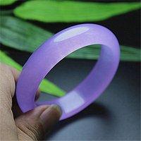 authentic jade bracelet - 100 Natural ice authentic myanmar A cargo of violet spray jade bracelets jade bracelet for women ensure counters is superior