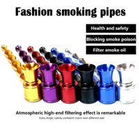 bamboo rods - Smoking Pipes Sharpstone Long Section Bamboo Rod Shape Metal Pipes Aluminum Smoking Accessories Metal Filter Pipes Portable Mini Pipes DHL