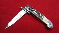antler handle knives - Hubertus Solingen patron guardian inch with gift box Antler handle pocket knife folding knife camping knife freeshipping