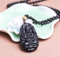 Wholesale Obsidian this patron life fo the eight obsidian fashion necklace jewelry pendant necklace