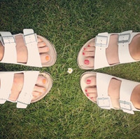 abnormal breasts - Korean double breasted cork bottom summer sandals sandals slippers couple of men and women flat shoes