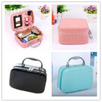 best green beauty products - Wash Bag Makeup Case Crocodile Pattern Pink Wedding Beauty Case Cosmetic Skin Care Products Best Gift For Friend