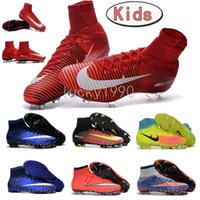 army shoes for kids - Original Kids MerCURial SuPERfly CR7 soccer shoes TF child MaGista obra OrDen II FG football Boots for kids SuPERflys youth soccer cleats