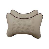 Wholesale 2PCS Pillow Neck Headrest Car Covers Vehienlar Plaid Pillow Car Seat Cover Headrest Neck Pillow
