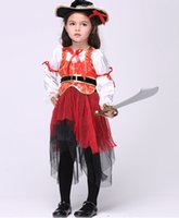 beauty tv shows - Kids Halloween Pirate show children suit skirt suit cosplay festival costumes Dance Wear children s clothing