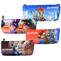 Wholesale PrettyBaby types Zootopia figures printing Pencil Bags cartoon style children school supplies DHL ship for free