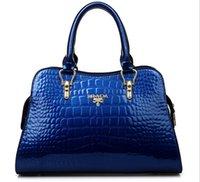 red patent leather handbag - 2016 Handbags Brand Luxury Women Patent Leather handbags Vintage Women Tote European Style Women messenger bags Ladies Women Bag Bolsas