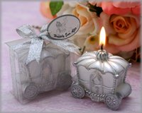 Wholesale wedding favor candle Decoration Fairy Tale Pumpkin Carriage Candles for baby shower party decoration