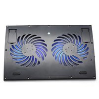 Wholesale 2016 Pop Laptop Cooling Stand Black USB cm LED Double Light Fans Height Efficient Stable For Notebook Cooler Base