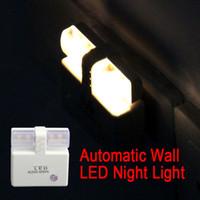 automatic ac control - US Plug Automatic Energy Saving Light Plastic White Light Control LED Wall Night Sensor Light Lamp