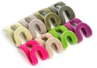 Wholesale New Arrive Home Creative Mini Flocking Clothes Hanger Easy Hook Closet Organizer