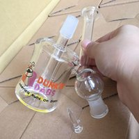 american glass pipes - Dunkin Dabs American Runs On Dabs Mini two function clear Mini bubbler glass mini hookah mm water pipe oil rig bong
