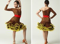 Wholesale New Dance Latin Dresses Wave Point Costume Dance Latine For Women Enfeites Para Quarto Cha Cha Tango Rumba Samba Dance Dress