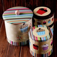 Wholesale Extra Large Retro In Cupcake Biscuits Kitchen Coffee Tea Sugar Container Jar Metal