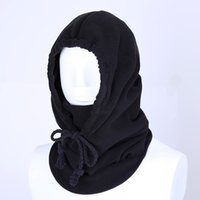 Wholesale More color Autumn and winter outdoor thickening more fleece caps Masked warm against the hood Masks to protect face scarf hat