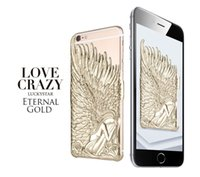 apple angels - Luxury Angel Wings IN Plating Emboss PC Hard Iphone Case TPU for Iphone s Plus s Iphone S