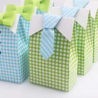 baby blue wedding cakes - Grid Candy Box Baby shower Party Candy Sweet Cupcake Cake Paper Blue Green Box Wedding Favors