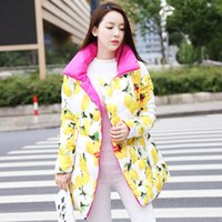 Wholesale 2016 New Fashion Long Winter Jacket Women Slim Female Coat Thicken Parka Down Cotton Clothing Red Clothing Hooded Student