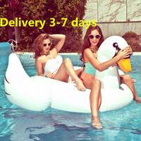 venda por atacado inflatable pool toys-Em estoque inflável gigante Unicorn Pegasus Natação em Águas jangada do flutuador colchão de ar para adulto Kid Swim Bóia Piscina Toy