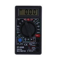 Wholesale LCD Electronic Digital Voltmeter Ammeter Multimeters AC DC Meter Tester Checker Yellow Black H1762