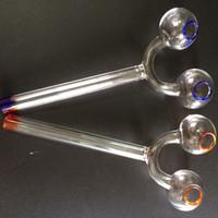 2016 verre Brûleurs à mazout Tuyaux avec tubes doubles galbés Pipes d'eau en verre tuyau narguilés verre Universal verre Hookah Pot en verre Brûleurs à mazout