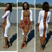 Wholesale 2016 sexy slim summer dashiki for women plus size africa clothing elastic dashiki dress african dresses for women