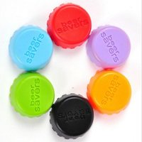 Wholesale New kitchen Bar Tools Wine Stoppers Silicone Preservation Beer Wine Lid Beverage Closures seasoning Bottle Stoppers