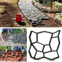 Wholesale cm DIY Plastic Garden Path Maker Mold Manually Paving Cement Brick Stone Road Auxiliary Tool