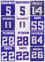 Wholesale Men s Laquon Treadwell Teddy Bridgewater Stefon Diggs Adrian Peterson Anthony Barr Harrison Smith elite jerseys