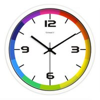 Wholesale 2016 Large Wall Clock Digital Watch Grande Horloge Murale Modern Design Sticker Clock Livingroom Silent Quartz Watch Wall LLN76