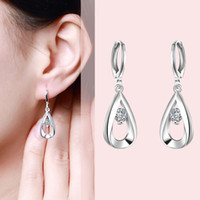 Wholesale 10 pairs Teardrop Earrings Fashion Simple Jewelry Dangle Earrings small Exquisite Christmas gifts For Women Ladies Girls on
