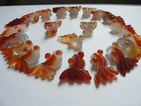 Wholesale Fashion Beautiful Agate Crystals Carved Fish Pendant Natural