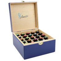 anise oil - Wooden Essential Oil Box Carrying Case For Bottles Of ml By Anise Storage Container Small Enough For Travel and Presentations