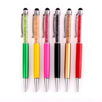 Wholesale 100 Crystal in Swarovski Colorful Crystal Capacitive Touch Stylus Ball Pen For ipad iphone Samsung