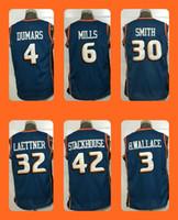 Wholesale Men s Mills Joe Dumars Smith Christian Laettner Jerry Stackhouse B Wallace Top Quality Drop Shipping Shirts Ch
