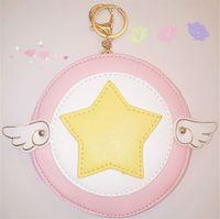 Wholesale Card Captor Sakura Kinomoto Sakura Star wings Purse IC Card Coin Pocket Bag Pendant COS