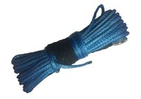 Wholesale new durable quot x blue synthetic winch rope