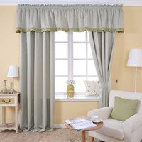 Wholesale Home Furnishing flower design curtain curtain with valance made in china