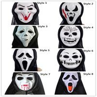 Wholesale Halloween Plastic Mask for Adult Fashion Party Scary Horror Mask Ghost Masquerade Scream Mask Costume Skull Skeleton Mask Costumes Masks