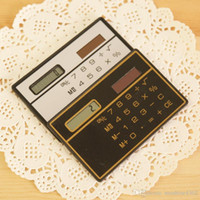 Wholesale 2016 Hot New Card calculator Portable Slim calculator solar calculator Solar Calculator Card Calculator Ultra thin Calculator