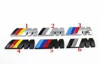 Wholesale 20pcs M power Series D Metal Logo Sticker Emblem Badge Chrom E Z X M3 M5 M6 Mline for BMW M logo car styling stickers