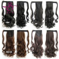 Wholesale quot Long wavy Claw Clip Drawstring Ponytail Hairpieces Extensions False Hair Pony Tails Horse Tress Synthetic Ponytail BIP