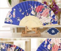 adult wall paper - Chrysanthemum Fan Vintage Chinese Japanese Fans Wall Hanging Home Decor Bamboo Cloth Fan dhl