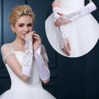 add bridal - Marriage lace wedding dresses the bride gloves accessories add long cubits fingerless covered scar gloves in winter