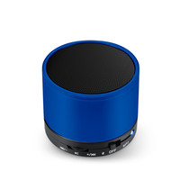 Wholesale 1pc Mini Wireless Bluetooth Speaker TF Card Portable Audio Player For Mobile MP3 MP4 Computer Stage Metal Blue Black