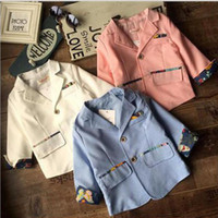 Wholesale Boys Autumn Fashion Candy Color Jackets Kids Clothes Boys Outerwear Jackets For Boys
