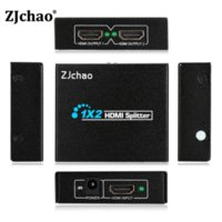 Wholesale 1 in Out Amplifier Repeater Full HD x2 Port HDMI Splitter D p Female Switcher Box Dual Display For PS3 Xbox