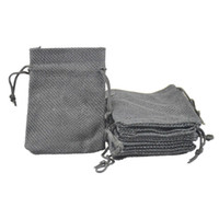 Wholesale 7x9cm Faux Jute Drawstring Jewelry Bags Candy Beads Small Pouches Burlap Blank Linen Fabric Gift packaging bags Stylish Reusable