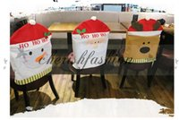 wooden chair - Lovely Christmas Chair Covers elk snowman Santa Claus Christmas Decoration Dining Room Chair Cover Home Party Decor M359 B