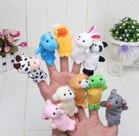 Wholesale 2016 new Retail Baby Plush Toy Finger Puppets Talking Props animal group set by DHL